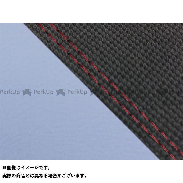 Grondement MT-09 シート関連パーツ MT-09/FZ-09 国産シートカバー スベラーヌ黒&ライト青 タイプ:張替 仕様:赤ダブルステッチ グロンドマン