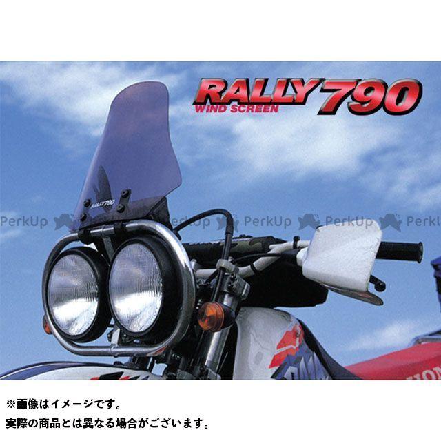 送料無料 ラフアンドロード 汎用 スクリーン関連パーツ RALLY790 マルチスクリーン(スモーク) ワイドラウンド