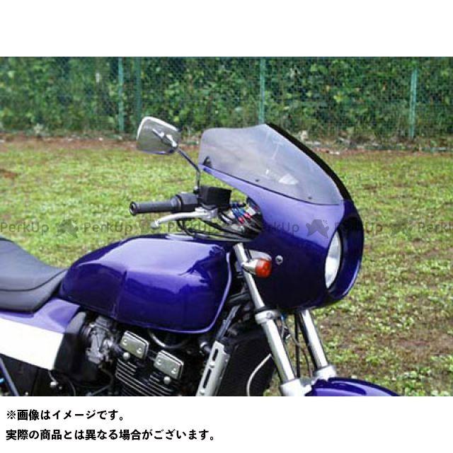 GULL CRAFT GSX400インパルス カウル・エアロ ブレットビキニ タイプC(スモーク) カウルカラー:パールスチールホワイト/パールミディアムブルー M18 ガルクラフト