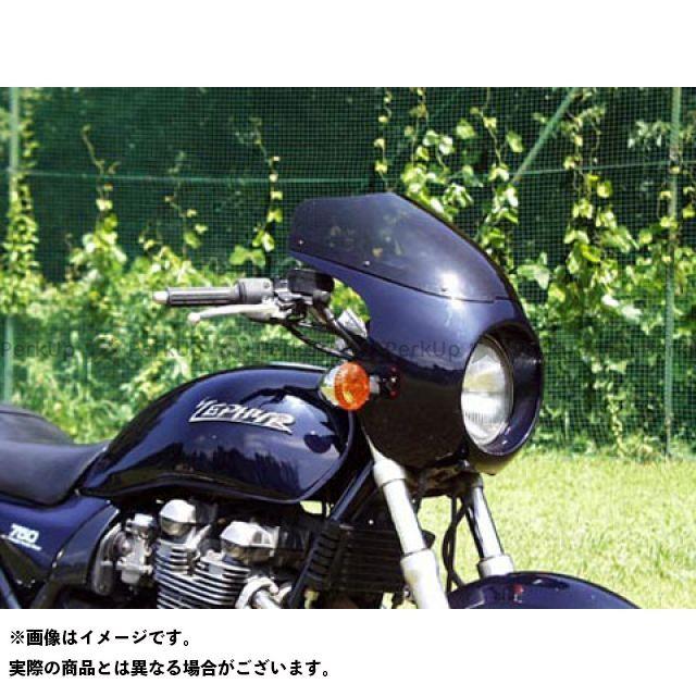 GULL CRAFT ゼファー750 カウル・エアロ ブレットビキニ タイプC(スモーク) カウルカラー:メタリックスパークブラック/ゴールドライン ガルクラフト