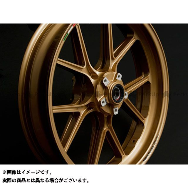 【エントリーで最大P23倍】marchesini ファイアーストーム ホイール本体 M10R Corse マグネシウムホイール フロント:MT3.50-17/リア:MT6.00-17 カラー:ゴールド マルケジーニ