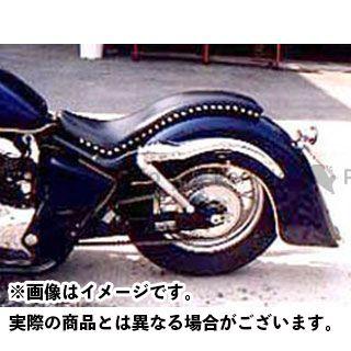 American Dreams シャドウ400 シャドウ750 シート関連パーツ コブラシート プレーンパターン Wスタッド 黒レザー