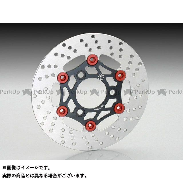 キタコ KITACO ディスク フローティングディスクローター ブラック/レッド