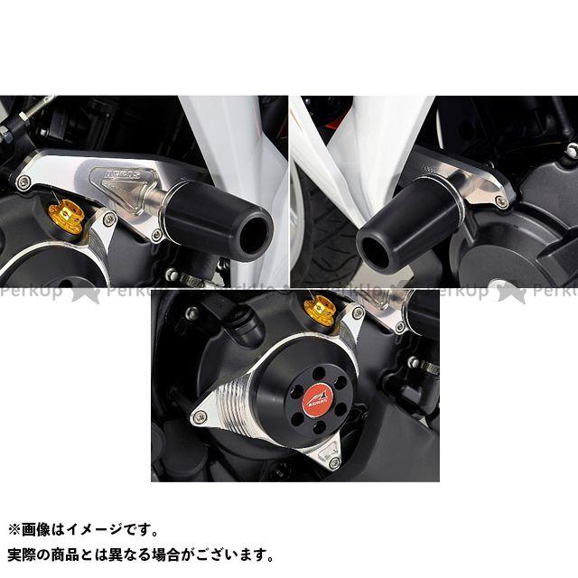 AGRAS CBR250R スライダー類 レーシングスライダー 3点SET 50φ クラッチ カラー:ジュラコン/ブラック タイプ:ロゴ有 アグラス
