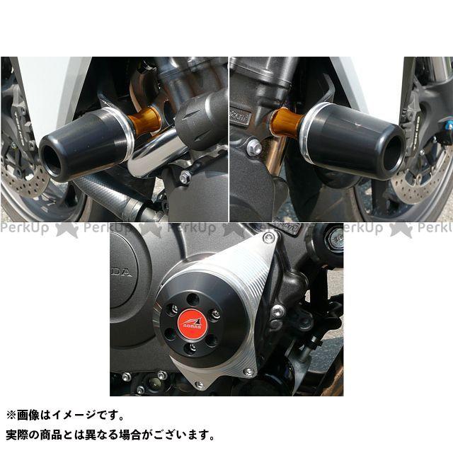 【エントリーで更にP5倍】AGRAS CB1000R スライダー類 レーシングスライダー 3点SET 60φ クランクC カラー:ジュラコン/ブラック アグラス