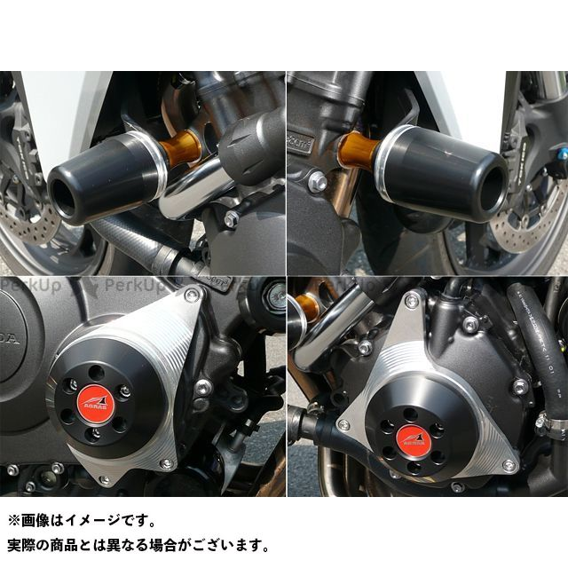 【エントリーで最大P23倍】AGRAS CB1000R スライダー類 レーシングスライダー 4点SET 50φ ケースC カラー:ジュラコン/ホワイト タイプ:ロゴ無 アグラス