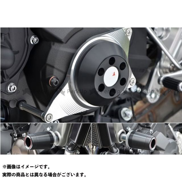 AGRAS MT-09 スライダー類 レーシングスライダー 3点セット フレームφ50+ジェネレーター ジュラコン/ホワイト ロゴ有