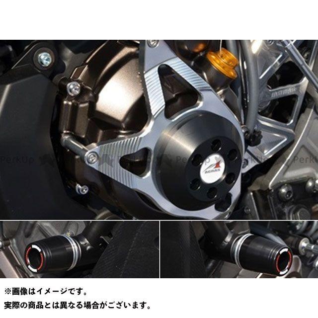 AGRAS MT-07 スライダー類 レーシングスライダー 3点セット フレームφ50+ジェネレーター ジュラコン/ホワイト ロゴ有 アグラス