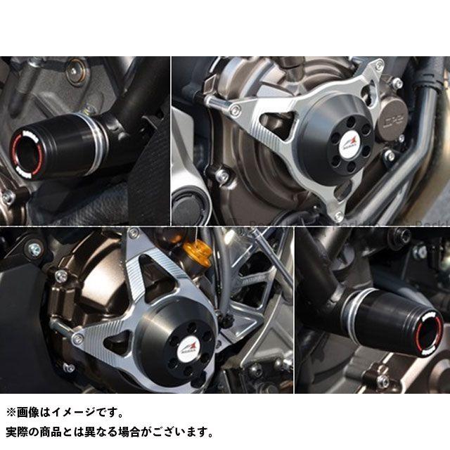 【エントリーで更にP5倍】AGRAS MT-07 スライダー類 レーシングスライダー 4点セット フレームφ50 カラー:ジュラコン/ブラック タイプ:ロゴ無 アグラス