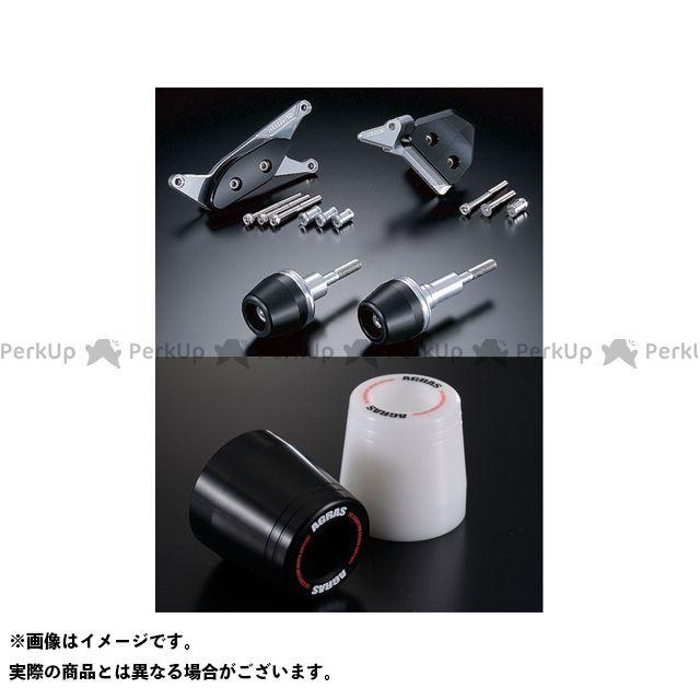 【エントリーで更にP5倍】AGRAS GSX-R1000 スライダー類 レーシングスライダー 4点SET A カラー:ジュラコン/ホワイト タイプ:ロゴ有 アグラス