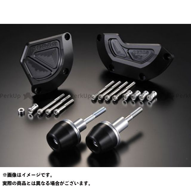 AGRAS GSX-R1000 スライダー類 レーシングスライダー 4点SET B カラー:ジュラコン/ブラック タイプ:ロゴ有 アグラス