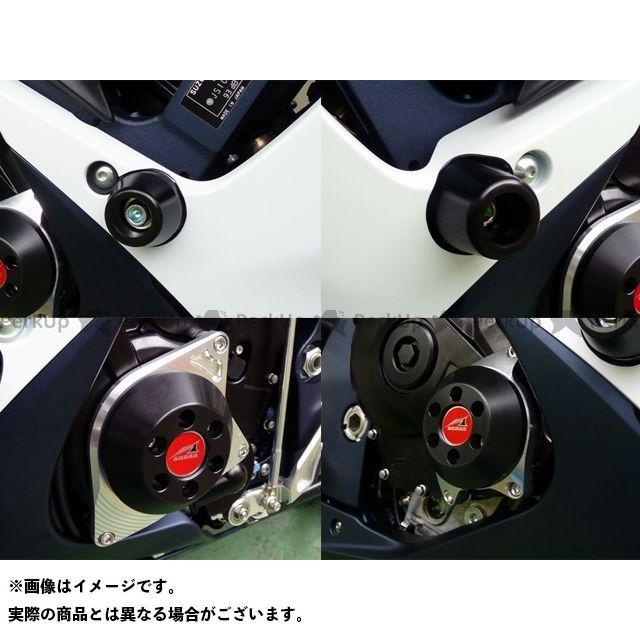 AGRAS GSX-R600 GSX-R750 スライダー類 レーシングスライダー 4点SET ジュラコン/ホワイト ロゴ無