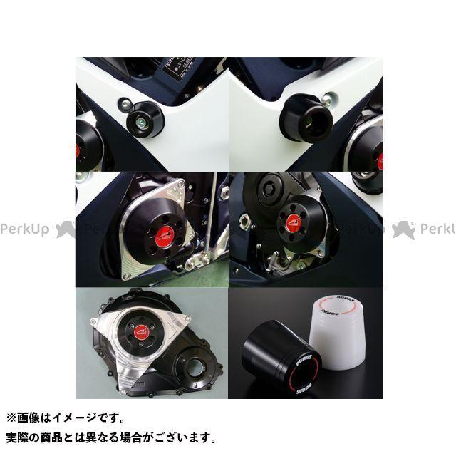 AGRAS GSX-R600 GSX-R750 スライダー類 レーシングスライダー 5点SET ジュラコン/ホワイト ロゴ有 アグラス