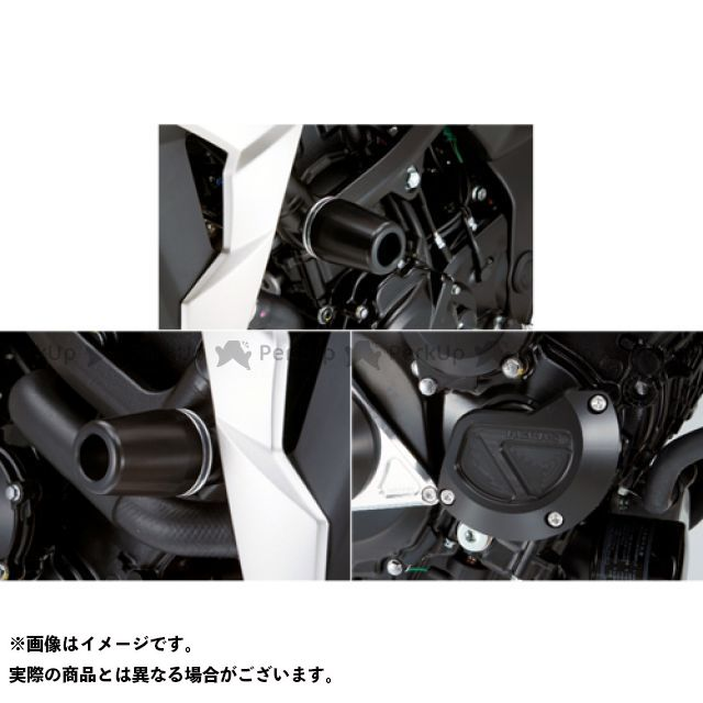 【エントリーで更にP5倍】AGRAS GSR750 スライダー類 レーシングスライダー 3点SET フレームφ50+スターターB カラー:ジュラコン/ブラック タイプ:ロゴ無 アグラス