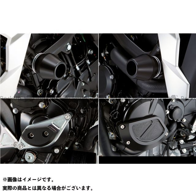AGRAS GSR750 スライダー類 レーシングスライダー 4点SET フレームφ60+スターターA+ジェネレーターB カラー:ジュラコン/ブラック アグラス