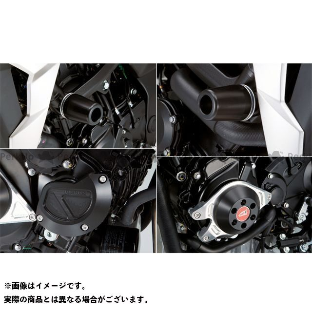 AGRAS GSR750 スライダー類 レーシングスライダー 4点SET フレームφ50+スターターB+ジェネレーターC カラー:ジュラコン/ブラック タイプ:ロゴ無 アグラス