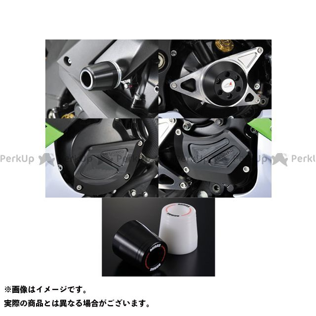 AGRAS ニンジャZX-10R スライダー類 レーシングスライダー 5点SET B カラー:ジュラコン/ホワイト タイプ:ロゴ有 アグラス
