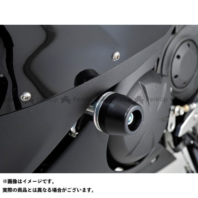 AGRAS ニンジャ400R スライダー類 レーシングスライダーフレーム カラー:ジュラコン/ホワイト タイプ:ロゴ無 アグラス