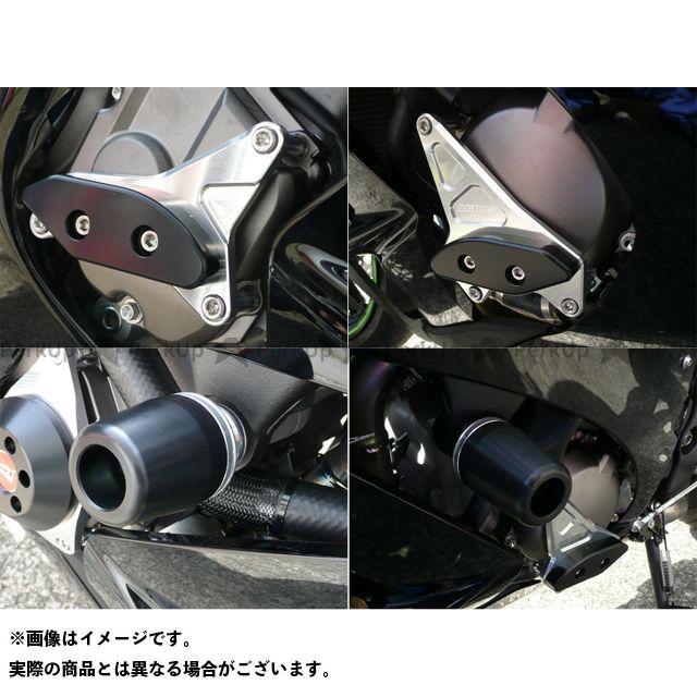 AGRAS ニンジャZX-10R スライダー類 レーシングスライダー 4点SET A カラー:ジュラコン/ブラック タイプ:ロゴ無 アグラス