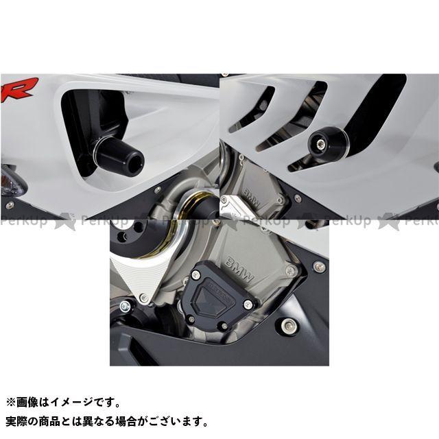 【エントリーでポイント10倍】 アグラス S1000RR スライダー類 レーシングスライダー 3点SET フレーム+クランクB ジュラコン/ホワイト ロゴ無