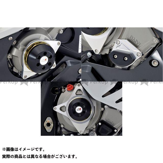 【無料雑誌付き】AGRAS S1000RR スライダー類 レーシングスライダー 3点SET ジェネレーターA+クランクA+クラッチ カラー:シルバー/ブラック アグラス