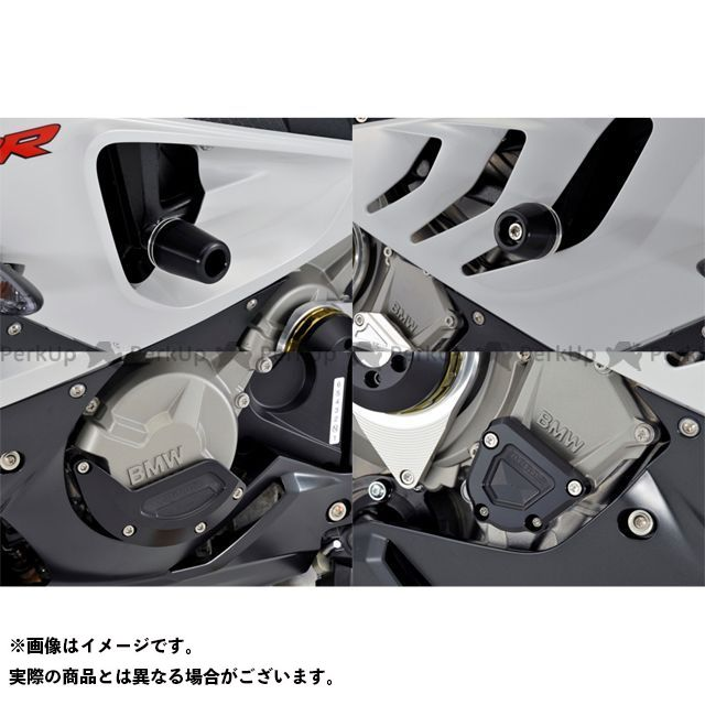 AGRAS S1000RR スライダー類 レーシングスライダー 4点SET フレーム+ジェネレーターB+クランクB ジュラコン/ホワイト ロゴ有 アグラス