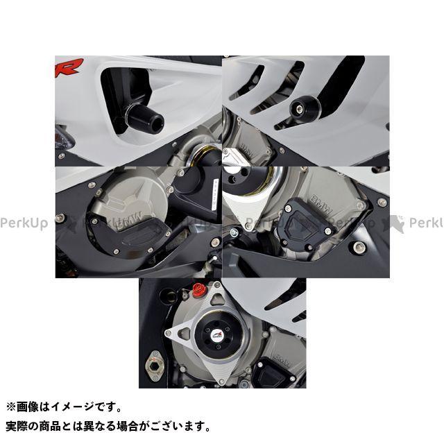 【無料雑誌付き】AGRAS S1000RR スライダー類 レーシングスライダー 5点SET フレーム+ジェネレーターB+クランクB+クラッチ カラー:チタン/ブラック タイプ:ロゴ無 アグラス