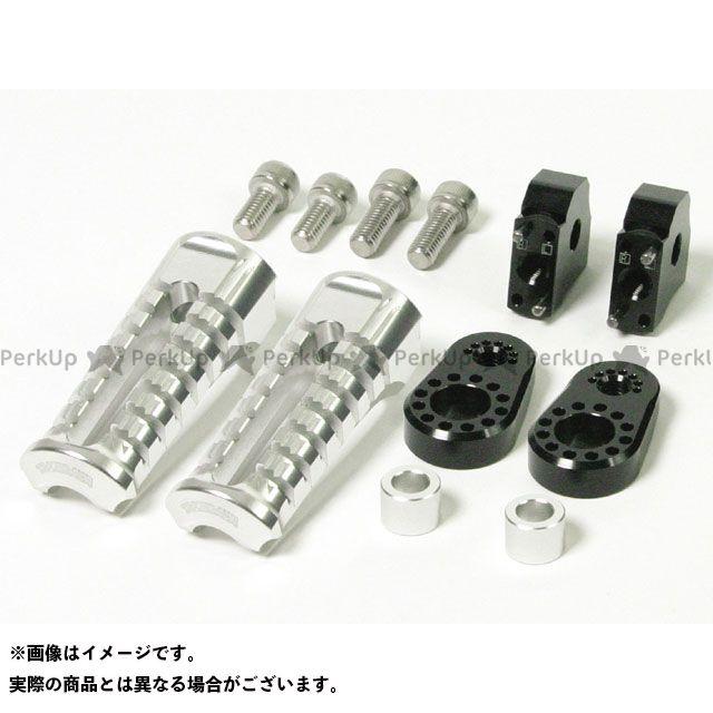 送料無料 TAKEGAWA ゴリラ モンキー ステップ アルミ削り出しアジャスタブルステップキット ブラック