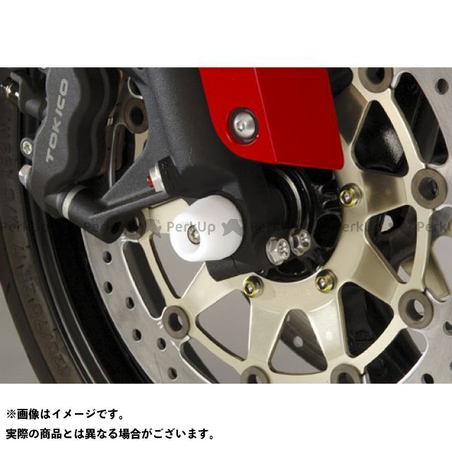 AGRAS CBR600RR その他サスペンションパーツ フロントアクスルプロテクター コーン 仕様:アルミ カラー:ブルー アグラス