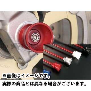 AGRAS 隼 ハヤブサ TL1000R TL1000S その他サスペンションパーツ フロントアクスルプロテクター ファンネルタイプ 仕様:アルミ カラー:レッド アグラス