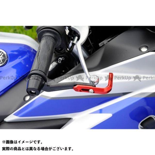 AGRAS レバー ガードエンド&ベースカラー:シルバー アグラス レバーガード YZF-R25 ジュラコン:ホワイト ガードステー:ブルー