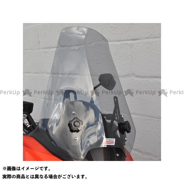 【特価品】Skidmarx ヴェルシス1000 ヴェルシス650 スクリーン関連パーツ ウィンドスクリーン ツーリングタイプ カラー:レッド スキッドマークス