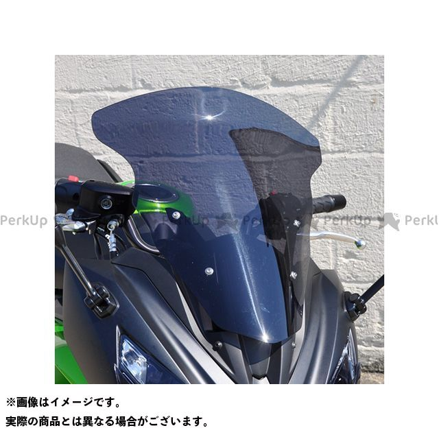 【エントリーで更にP5倍】Skidmarx ER-6f ニンジャ400 ニンジャ650 スクリーン関連パーツ ウィンドスクリーン ツーリングタイプ カラー:ブラック スキッドマークス