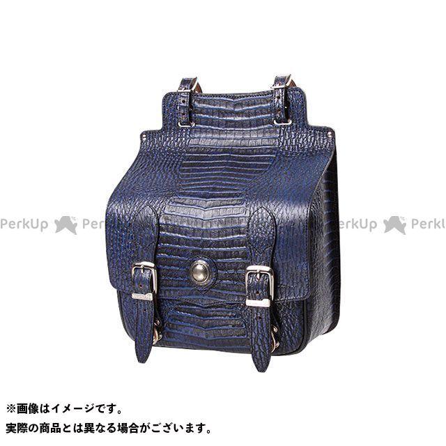 【エントリーで更にP5倍】デグナー ツーリング用バッグ SB-65CR クロコダイル柄レザーサドルバッグ カラー:ブルー DEGNER