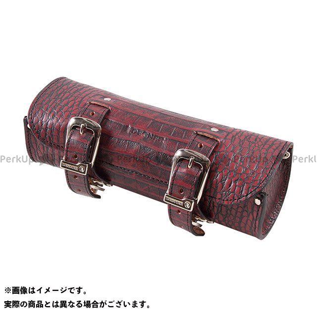 デグナー ツーリング用バッグ TB-4CR クロコダイル柄レザーツールバッグ カラー:レッド DEGNER