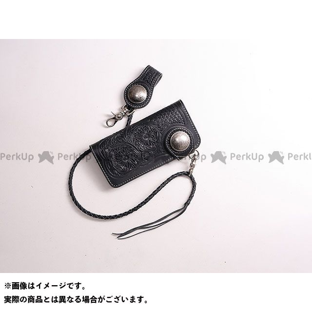 デグナー 財布 W-75 カービングレザーウォレット カラー:ブラック DEGNER