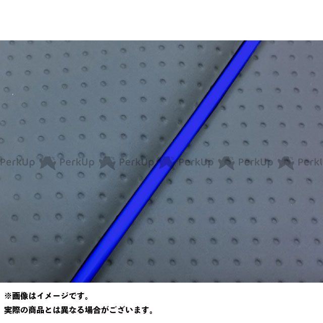 Grondement シグナス125D シート関連パーツ シグナスD(4TG/4KP) 国産シートカバー フルエンボスグレー タイプ:被せ 仕様:青パイピング グロンドマン