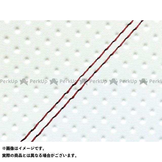Grondement シグナス125D シート関連パーツ シグナスD(4TG/4KP) 国産シートカバー フルエンボスホワイト タイプ:張替 仕様:赤ダブルステッチ グロンドマン