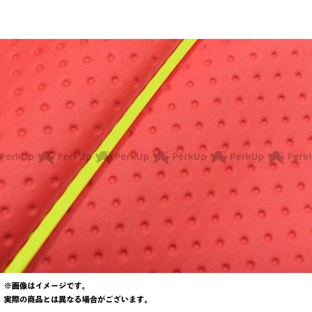Grondement シグナス125D シート関連パーツ シグナスD(4TG/4KP) 国産シートカバー フルエンボスレッド タイプ:被せ 仕様:黄パイピング グロンドマン