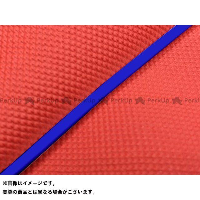 Grondement シグナスX シート関連パーツ シグナスX SE44J(1YP/1MS)後期 国産シートカバー スベラーヌレッド タイプ:被せ 仕様:青パイピング グロンドマン