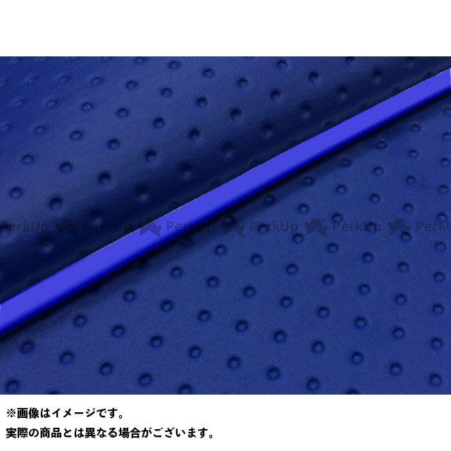 Grondement シグナスX シート関連パーツ シグナスX SE44J(28S)前期 国産シートカバー フルエンボスブルー タイプ:被せ 仕様:青パイピング グロンドマン