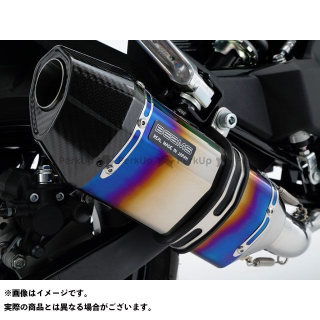 【エントリーで更にP5倍】BEAMS Z125プロ マフラー本体 CORSA-EVO II マフラー JMCA サイレンサー:ヒートチタン ビームス