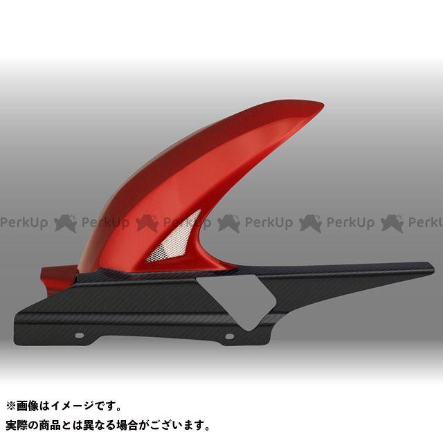 フォルスデザイン FORCE DESIGN フェンダー 外装 FORCE DESIGN CB1300スーパーツーリング フェンダー CB1300ST ハイブリッド・インナーフェンダー キャンディアルカディアンレッド 綾織りカーボン ロング・スリット有り フォルスデザイン