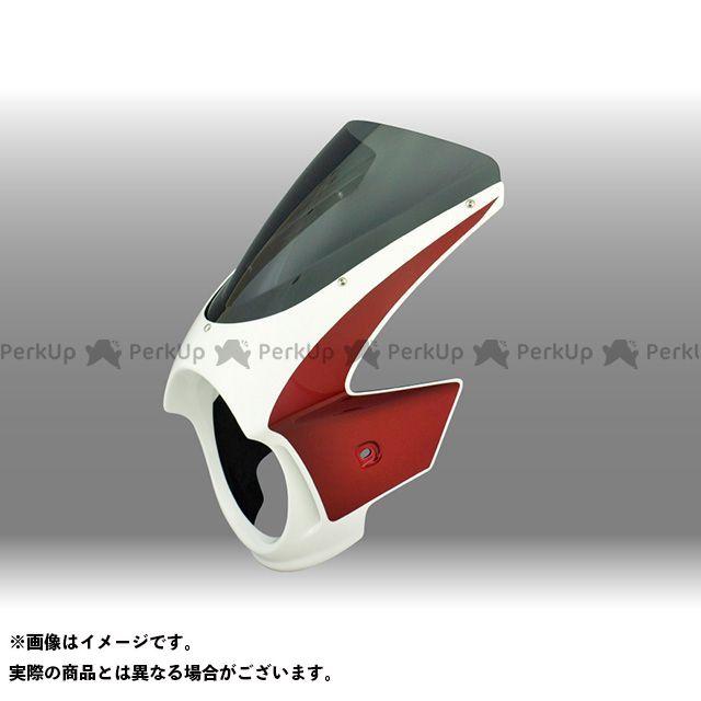 FORCE DESIGN CB400スーパーフォア(CB400SF) カウル・エアロ CB400SF ビキニカウル カウルカラー:キャンディープロミネンスレッド スクリーンカラー:ミラー スクリーンタイプ:スプリントスクリーン フォルスデザイン