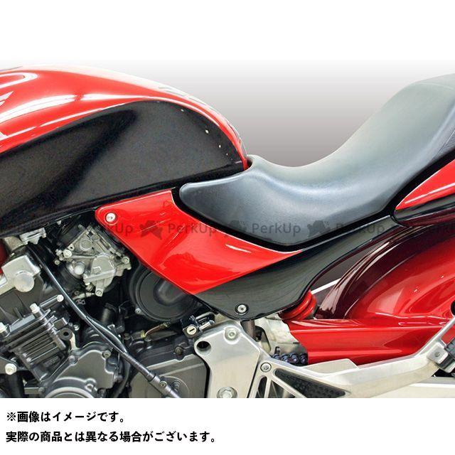 FORCE DESIGN ホーネット カウル・エアロ HORNET250 FRPサイドカバー カラー:DXカラー(キャンディブレイジングレッド/ブラック) フォルスデザイン