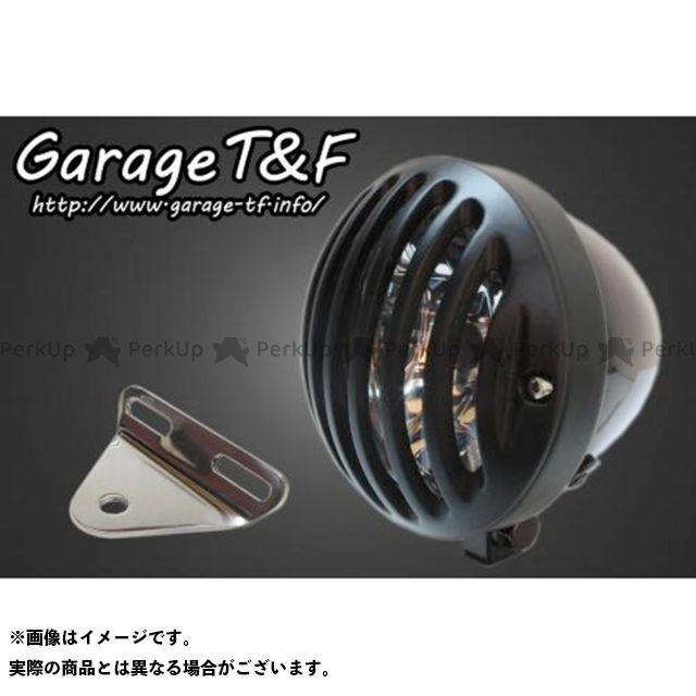 ガレージティーアンドエフ ドラッグスター250(DS250) ヘッドライト・バルブ 4.5インチバードゲージヘッドライト&ライトステー(タイプA)キット ブラック ブラック