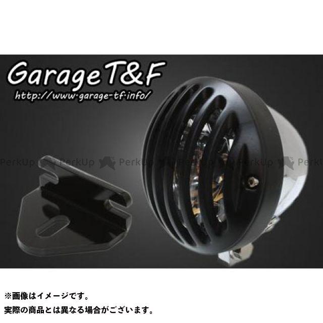 ガレージティーアンドエフ W650 ヘッドライト・バルブ 4.5インチバードゲージヘッドライト&ライトステー(タイプE)キット メッキ ブラック
