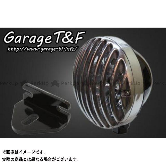 ガレージティーアンドエフ W650 ヘッドライト・バルブ 5.75インチバードゲージヘッドライト&ライトステー(タイプE)キット ブラック ポリッシュ