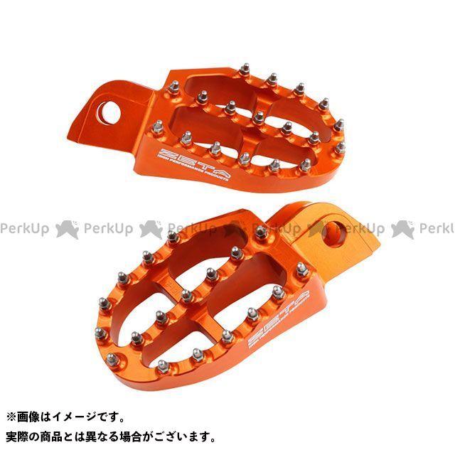 【無料雑誌付き】ZETA ステップ アルミニウムフットペグ(オレンジ) ジータ