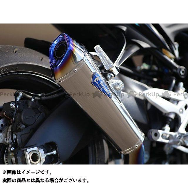 【エントリーで更にP5倍】R's GEAR GSX-S1000 GSX-S1000F マフラー本体 ワイバンリアルスペック シングルタイプ サイレンサー:チタン アールズギア
